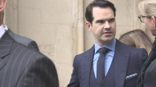 jimmy carr leaving at a service of thanksgiving for the life and work of sir terry wogan at westminster abbey on september 27 2016 in london england - terry wogan video stock e b–roll