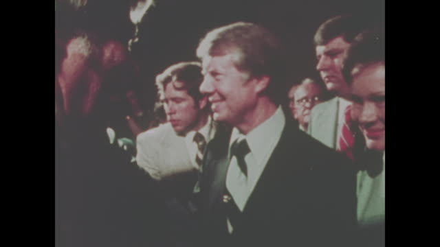 jimmy carter campaigns in 1974 no sound available - präsident stock-videos und b-roll-filmmaterial