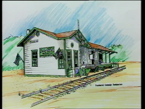 Part 1 C4N DRAWING Of main street shops USA Georgia Plains EXT GV Main Street DRAWING Of gas station which brother Billy Carter used to own