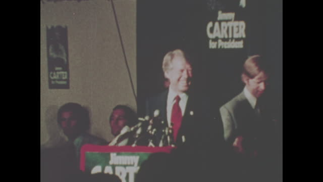 jimmy carter speaks in 1974 no sound available - präsident stock-videos und b-roll-filmmaterial