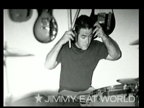 jimmy eat world at the 2004 kroq almost acoustic christmas at the universal amphitheatre in universal city, california on december 11, 2004. - kroq stock videos & royalty-free footage