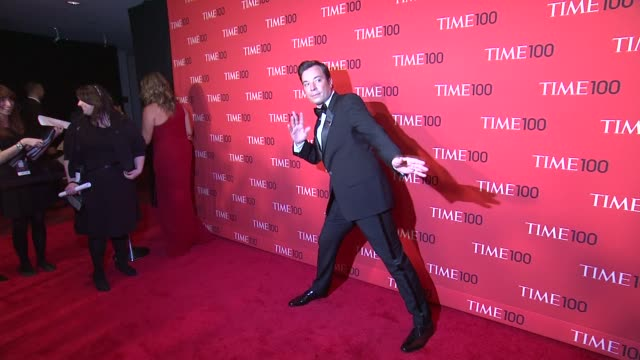 jimmy fallon at 2013 time 100 gala arrivals at frederick p rose hall jazz at lincoln center on april 23 2013 in new york new york - jimmy fallon stock videos and b-roll footage