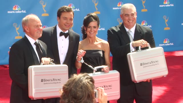 jimmy fallon at the 62nd primetime emmy awards arrivals at los angeles ca - jimmy fallon stock videos and b-roll footage