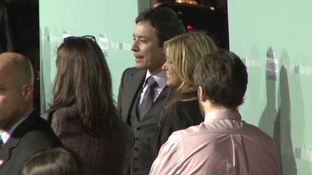 jimmy fallon at the 'he's just not that into you' premiere at los angeles ca - jimmy fallon stock videos and b-roll footage