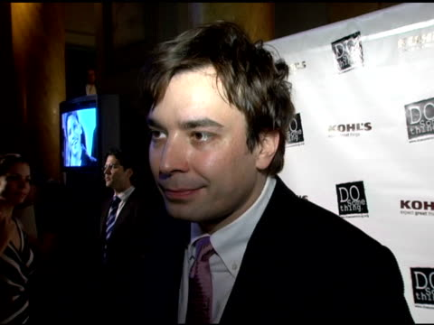jimmy fallon discusses the event and providing support to the organization, getting involved, hosting and preparing for the event at the 2006 brick... - do something organization stock videos & royalty-free footage