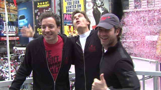jimmy fallon dr mehmet oz and nate berkus at the 14th annual entertainment industry foundation revlon run/walk for women at new york ny - jimmy fallon stock videos and b-roll footage