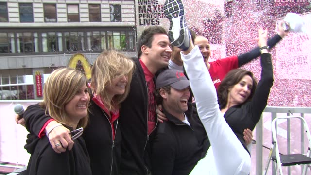 jimmy fallon nate berkus and lilly tartikoff at the 14th annual entertainment industry foundation revlon run/walk for women at new york ny - jimmy fallon stock videos and b-roll footage
