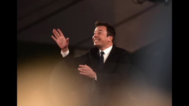 jimmy fallon poses in the press room during the people's choice awards 2018 at barker hangar on november 11 2018 in santa monica california - barker hangar stock videos & royalty-free footage