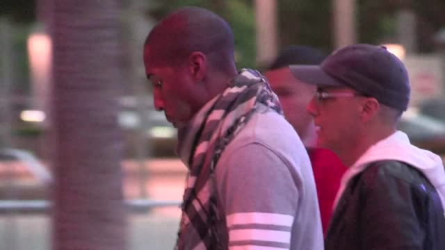 jimmy iovine pharrell williams arrive at staples center in los angeles 05/01/12 jimmy iovine pharrell williams arrive at staples on may 01 2012 in... - staples center stock videos and b-roll footage