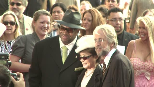 Jimmy Jam Yoko Ono Neil Portnow at the Grammy Foundation's Starry Night Benefit at Los Angeles CA