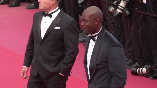 jimmy jeanlouis at 'once upon a time in hollywood ' red carpet arrivals the 72nd cannes film festival at grand theatre lumiere on may 21 2019 in... - grand theatre lumiere stock videos & royalty-free footage