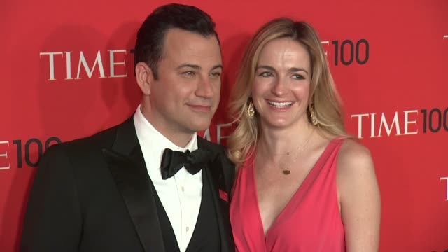 jimmy kimmel and molly mcnearney at 2013 time 100 gala arrivals at frederick p rose hall jazz at lincoln center on april 23 2013 in new york new york - jimmy kimmel stock videos and b-roll footage
