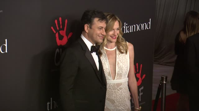 jimmy kimmel and molly mcnearney at rihanna's first annual diamond ball benefitting the clara lionel foundation at the vineyard on december 11 2014... - jimmy kimmel stock videos and b-roll footage