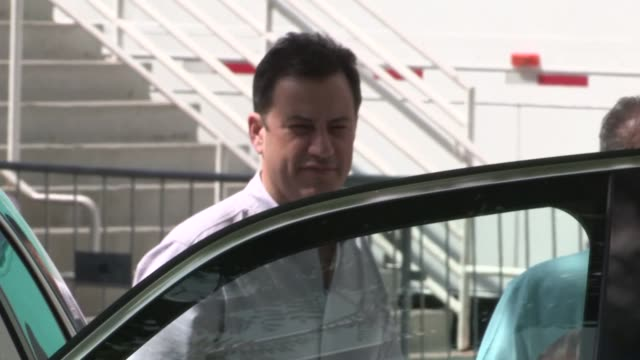 jimmy kimmel arrives at la kingsny rangers game 2 at staples center on june 07 2014 in los angeles california - jimmy kimmel stock videos and b-roll footage