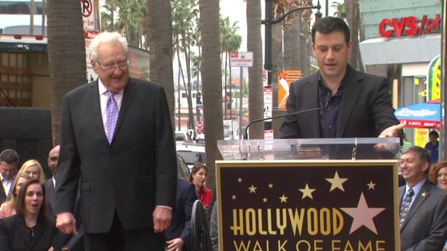 speech jimmy kimmel at don mischer honored with star on the hollywood walk of fame in hollywood ca on - jimmy kimmel stock videos and b-roll footage