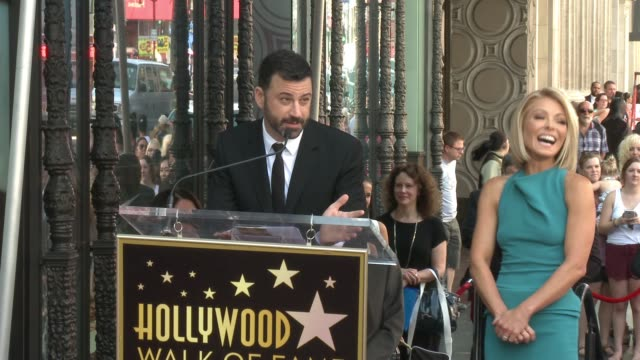 speech jimmy kimmel at hollywood walk of fame on october 12 2015 in hollywood california - jimmy kimmel stock videos and b-roll footage