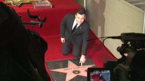stockvideo's en b-roll-footage met jimmy kimmel at jimmy kimmel honored with star on the hollywood walk of fame in hollywood, ca, on 1/25/13. - jimmy kimmel