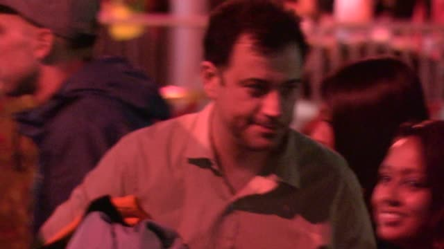jimmy kimmel greets fans while entering the jayz beyonce on the run tour in pasadena in celebrity sightings in los angeles - jimmy kimmel stock videos and b-roll footage