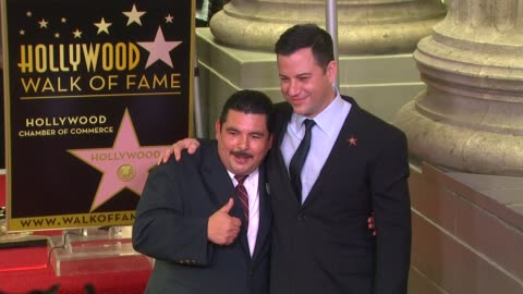 stockvideo's en b-roll-footage met jimmy kimmel honored with star on the hollywood walk of fame, hollywood, ca, united states, 1/25/13. - jimmy kimmel