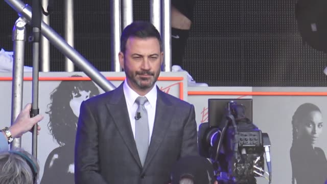jimmy kimmel introduces ciara on jimmy kimmel live at el capitan theatre in hollywood in celebrity sightings in los angeles - jimmy kimmel stock videos and b-roll footage
