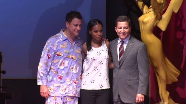 jimmy kimmel, kerry washington & bruce rosenblum at the 64th primetime emmy awards nominations announcement, north hollywood 07/19/12 - emmy awards nominations stock videos & royalty-free footage