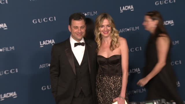 jimmy kimmel molly mcnearney at lacma hosts 2013 art film gala honoring david hockney and martin scorsese presented by gucci in los angeles ca - jimmy kimmel stock videos and b-roll footage
