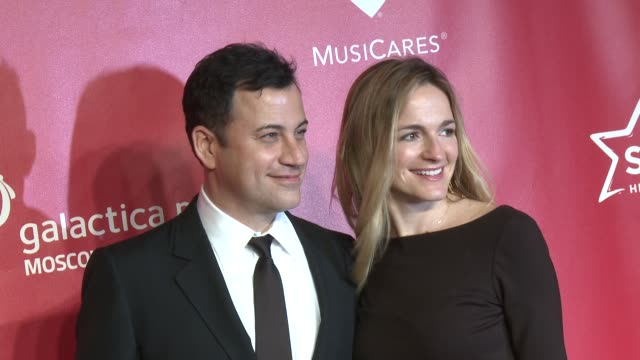 jimmy kimmel molly mcnearney at musicares 2013 person of the year tribute 2/8/2013 in los angeles ca - jimmy kimmel stock videos and b-roll footage