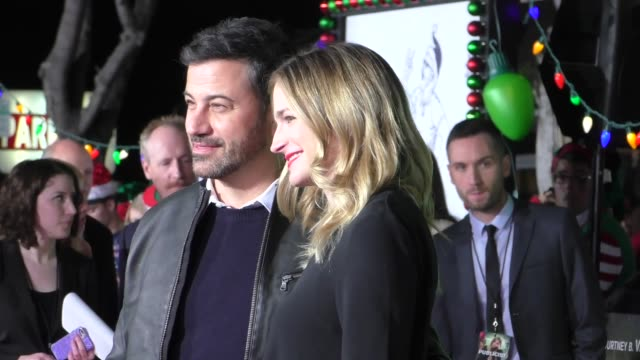 jimmy kimmel molly mcnearney at the premiere of paramount pictures' 'office christmas party' on december 07 2016 in westwood california - jimmy kimmel stock videos and b-roll footage
