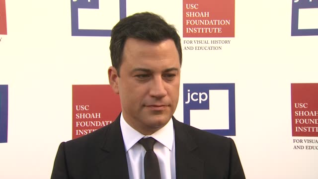 stockvideo's en b-roll-footage met jimmy kimmel on being a part of the night, what he has in store for the crowd, what he appreciates about the work the usc shoah foundation institute... - jimmy kimmel