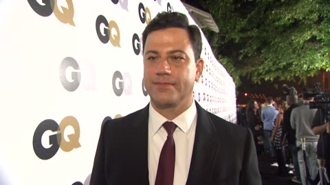 stockvideo's en b-roll-footage met jimmy kimmel on coming to support this years moty, what he thinks about jay-z being named king and what flavor of ice cream he would be. at the gq's... - jimmy kimmel