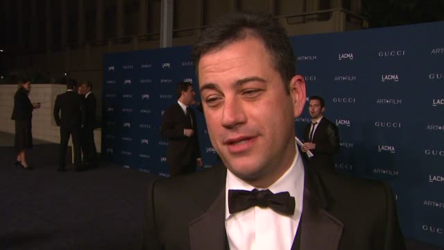 interview jimmy kimmel on why he wanted to support lacma and the honorees his favorite works from sorcese and looking forward to sting's performance... - jimmy kimmel stock videos and b-roll footage