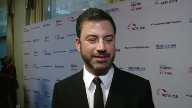 interview jimmy kimmel on why it was important for him to help honor bob saget and the work he's done for srf why laughter makes the tough times a... - jimmy kimmel stock videos and b-roll footage