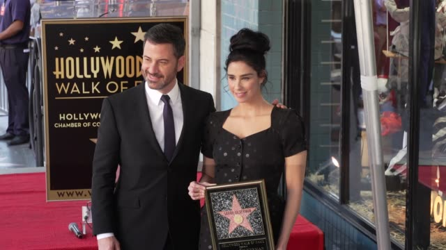jimmy kimmel sarah silverman at sarah silverman honored with a star on the hollywood walk of fame on november 09 2018 in hollywood california - jimmy kimmel stock videos and b-roll footage