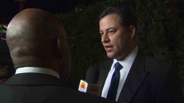 jimmy kimmell at the 2011 vanity fair oscar party arrivals at hollywood ca - vanity fair oscar party stock videos & royalty-free footage