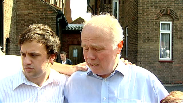 family pay tribute at church barry mizen interview sot margaret mizen interview sot 'three cooks' bakery where stabbing took place and crowds... - barry took stock videos & royalty-free footage