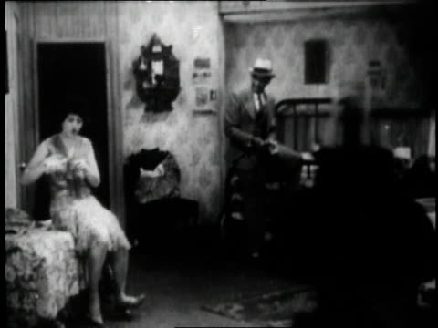 1929 montage jimmy mordecai acting in a bedroom scene from the movie st. louis blues / new york city, new york, united states - 1920 1929 stock videos & royalty-free footage