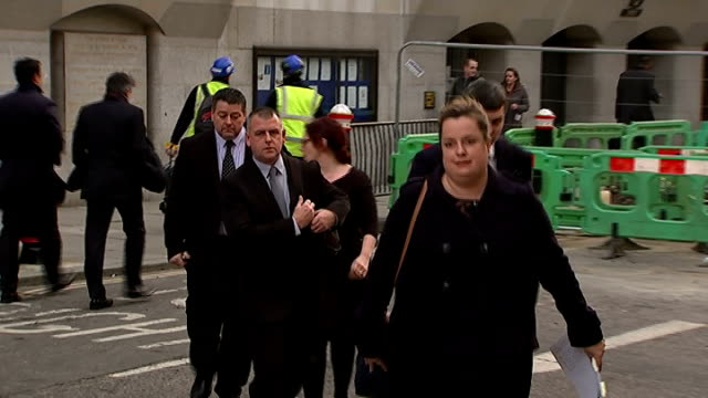 G4S guards cleared of killing ENGLAND London Westminster Magistrates Court PHOTOGRAPHY*** Terree Hughes and Colin Kaler and Stuart Tribelnig along to...