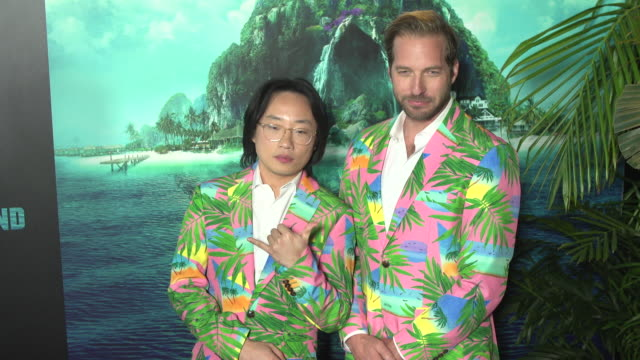 jimmy o yang and ryan hansen at the blumhouse's fantasy island premiere at amc century city 15 theater on february 10 2020 in century city california - century city stock videos & royalty-free footage