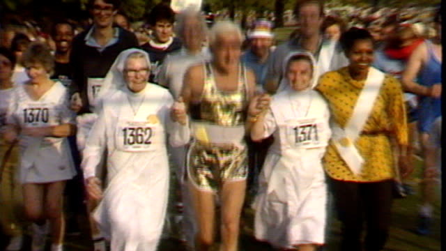 report reveals police failings 138743 / tx hyde park savile taking part in funrun with group of nuns - running shorts stock videos & royalty-free footage