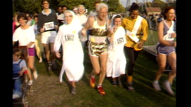 victims could sue department of health 138743 / tx hyde park ext jimmy savile taking part in funrun with nuns - running shorts stock videos & royalty-free footage
