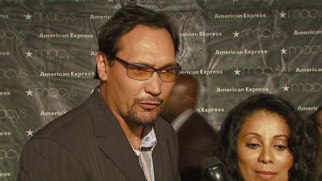 Jimmy Smits and Wanda De Jesus on why they're in attendance at the Macy's Passport Gala 2006 at Santa Monica Airport's Barker Hanger in Santa Monica...