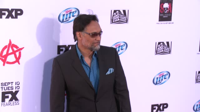 jimmy smits at fx's sons of anarchy season 6 premiere screening on 9/7/2013 in hollywood ca - jimmy smits stock videos and b-roll footage