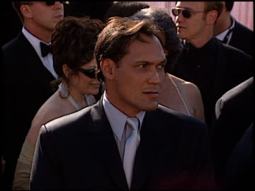 jimmy smits at the 1999 emmy awards at the shrine auditorium in los angeles, california on september 12, 1999. - jimmy smits stock videos & royalty-free footage