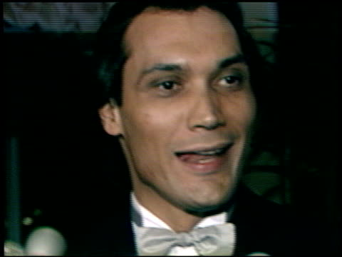 jimmy smits at the afi awards honoring gregory peck at the beverly hilton in beverly hills california on march 9 1989 - gregory peck stock videos and b-roll footage