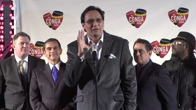 jimmy smits on the opening of the conga room at the conga room grand opening at los angeles ca - jimmy smits stock videos and b-roll footage