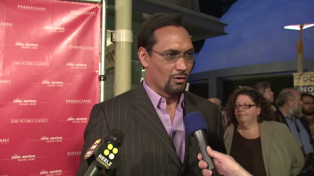 jimmy smits on working with so many women on why the film will appeal to men as well as women on not needing to know jane austen's work in order to... - jimmy smits stock videos and b-roll footage