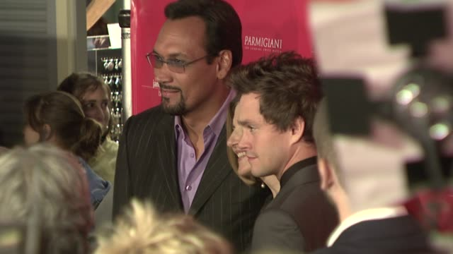 jimmy smits robin swicord and hugh dancy at the 'the jane austen book club' premiere at arclight cinemas in hollywood california on september 20 2007 - jimmy smits stock videos and b-roll footage
