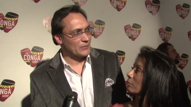 jimmy smits wanda de jesus on why the conga room was an important business venture what they appreciate about latin culture at the conga room grand... - jimmy smits stock videos and b-roll footage
