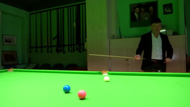 jimmy white 'the whirlwind' finally wins world snooker championship england int jimmy white interview and making shot sot - world championship stock videos and b-roll footage