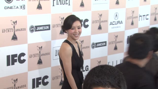 jingchu zhang at the 2011 independent spirit awards arrivals part 2 at santa monica ca - independent feature project stock videos & royalty-free footage